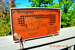 SOLD! - Sept 9, 2015 - MAD FOR PLAID! Mid Century Retro Vintage 1956 Westinghouse H503T5A Tube AM Radio WORKS! , Vintage Radio - Westinghouse, Retro Radio Farm  - 11