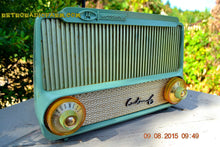 Load image into Gallery viewer, SOLD! - Mar 23, 2016 - PISTACHIO GREEN Mid Century Retro Jetsons 1955 Motorola Model A4G Custom 6 Tube AM Radio Rare! - [product_type} - Motorola - Retro Radio Farm