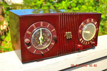 Load image into Gallery viewer, SOLD! - Sept 17, 2015 - STUDIOUS LOOKING Brown Swirly Mid Century Retro 1950 Motorola Model 5C6 Tube AM Clock Radio Works Great!! , Vintage Radio - Motorola, Retro Radio Farm  - 2