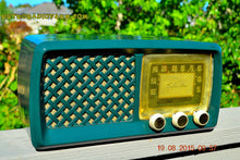 Load image into Gallery viewer, SOLD! - Dec 28, 2015 - GARDEN HOME GREEN Retro Jetsons Vintage 1955 Silvertone Model 2014 AM Tube Radio Totally Restored! - [product_type} - Silvertone - Retro Radio Farm