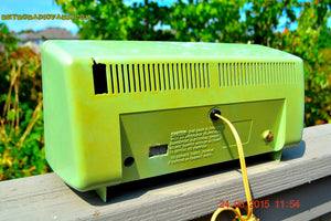 SOLD! - Aug 24, 2015 - COOL MINT Green Retro Vintage Mid Century Jetsons 1950's Truetone Western Auto AM Tube Radio Works! - [product_type} - Truetone - Retro Radio Farm