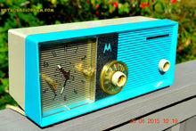 Load image into Gallery viewer, SOLD! - July 10, 2015 - BLUETOOTH MP3 READY - ELECTRIC BLUE Retro Jetsons 1957 Motorola 5C24CW Tube AM Clock Radio Works! - [product_type} - Motorola - Retro Radio Farm