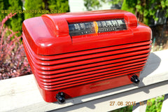 SOLD! - Feb 11, 2016 - BORDEAUX RED Art Deco Vintage Retro Industrial Age 1949 Stromberg Carlson Model 1500-H Bakelite Tube Radio Totally Restored! , Vintage Radio - Stromberg Carlson, Retro Radio Farm  - 2