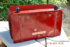 SOLD! - Feb 11, 2016 - BORDEAUX RED Art Deco Vintage Retro Industrial Age 1949 Stromberg Carlson Model 1500-H Bakelite Tube Radio Totally Restored! , Vintage Radio - Stromberg Carlson, Retro Radio Farm  - 6
