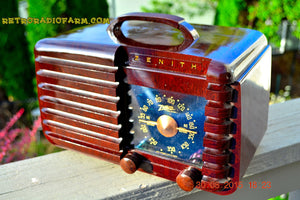 SOLD! - Sept 22, 2015 - GOLDEN AGE Art Deco WWII Era Vintage 1942 Zenith 6D612 AM Tube Radio Sounds Great! , Vintage Radio - Zenith, Retro Radio Farm  - 1