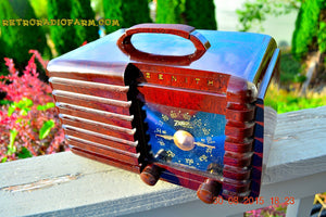 SOLD! - Sept 22, 2015 - GOLDEN AGE Art Deco WWII Era Vintage 1942 Zenith 6D612 AM Tube Radio Sounds Great! , Vintage Radio - Zenith, Retro Radio Farm  - 5