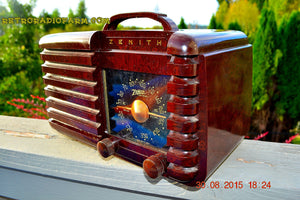 SOLD! - Sept 22, 2015 - GOLDEN AGE Art Deco WWII Era Vintage 1942 Zenith 6D612 AM Tube Radio Sounds Great! , Vintage Radio - Zenith, Retro Radio Farm  - 7