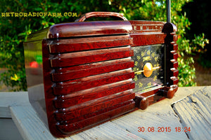 SOLD! - Sept 22, 2015 - GOLDEN AGE Art Deco WWII Era Vintage 1942 Zenith 6D612 AM Tube Radio Sounds Great! , Vintage Radio - Zenith, Retro Radio Farm  - 2