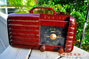 SOLD! - Sept 22, 2015 - GOLDEN AGE Art Deco WWII Era Vintage 1942 Zenith 6D612 AM Tube Radio Sounds Great! , Vintage Radio - Zenith, Retro Radio Farm  - 3