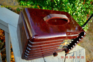 SOLD! - Sept 22, 2015 - GOLDEN AGE Art Deco WWII Era Vintage 1942 Zenith 6D612 AM Tube Radio Sounds Great! , Vintage Radio - Zenith, Retro Radio Farm  - 6