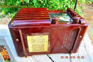 SOLD! - Sept 22, 2015 - GOLDEN AGE Art Deco WWII Era Vintage 1942 Zenith 6D612 AM Tube Radio Sounds Great! , Vintage Radio - Zenith, Retro Radio Farm  - 10