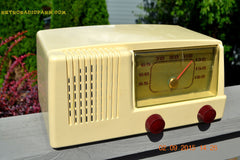 SOLD! - Jan 14, 2016 - BLUETOOTH MP3 READY - Antique Ivory Colored Mid Century Retro Vintage 1950 General Electric Model 401 AM Tube Radio Totally Restored! , Vintage Radio - General Electric, Retro Radio Farm  - 4