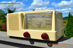 SOLD! - Jan 14, 2016 - BLUETOOTH MP3 READY - Antique Ivory Colored Mid Century Retro Vintage 1950 General Electric Model 401 AM Tube Radio Totally Restored! , Vintage Radio - General Electric, Retro Radio Farm  - 6
