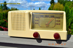 SOLD! - Jan 14, 2016 - BLUETOOTH MP3 READY - Antique Ivory Colored Mid Century Retro Vintage 1950 General Electric Model 401 AM Tube Radio Totally Restored! , Vintage Radio - General Electric, Retro Radio Farm  - 3