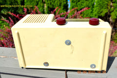 SOLD! - Jan 14, 2016 - BLUETOOTH MP3 READY - Antique Ivory Colored Mid Century Retro Vintage 1950 General Electric Model 401 AM Tube Radio Totally Restored! , Vintage Radio - General Electric, Retro Radio Farm  - 10