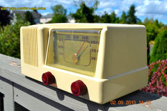 SOLD! - Jan 14, 2016 - BLUETOOTH MP3 READY - Antique Ivory Colored Mid Century Retro Vintage 1950 General Electric Model 401 AM Tube Radio Totally Restored! , Vintage Radio - General Electric, Retro Radio Farm  - 7