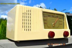 SOLD! - Jan 14, 2016 - BLUETOOTH MP3 READY - Antique Ivory Colored Mid Century Retro Vintage 1950 General Electric Model 401 AM Tube Radio Totally Restored! , Vintage Radio - General Electric, Retro Radio Farm  - 2