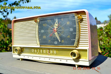Load image into Gallery viewer, SOLD! - Oct 21, 2016 - BEAUTIFUL Powder Pink And White Retro Jetsons 1956 RCA Victor 9-C-71 Tube AM Clock Radio WORKS! - [product_type} - Vintage Radio - Retro Radio Farm