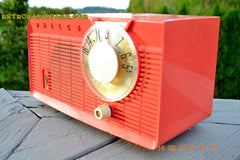 SOLD! - June 4, 2016 - BLUETOOTH MP3 READY - Salmon Pink Retro Mid Century Jetsons Vintage 1958 Philco E-814-124 AM Tube Radio WORKS! , Vintage Radio - Philco, Retro Radio Farm  - 7