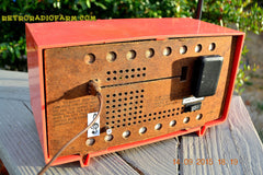 SOLD! - June 4, 2016 - BLUETOOTH MP3 READY - Salmon Pink Retro Mid Century Jetsons Vintage 1958 Philco E-814-124 AM Tube Radio WORKS! , Vintage Radio - Philco, Retro Radio Farm  - 11