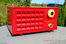 Load image into Gallery viewer, SOLD! - Sept 25, 2015 - BLUETOOTH MP3 READY - Lipstick Red Retro Jetsons 1955 Admiral Model 5R3 Tube AM Radio Totally Restored! , Vintage Radio - Admiral, Retro Radio Farm  - 1