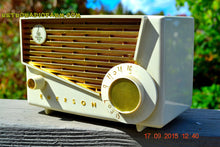Load image into Gallery viewer, SOLD! - Jan 9, 2016 - BLUETOOTH MP3 READY - Rococco Ivory and Gold Retro Vintage 1957 Emerson 851 AM Tube Radio Totally Restored! - [product_type} - Emerson - Retro Radio Farm