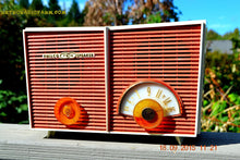 Load image into Gallery viewer, WACKY LOOKING Coral And White  Retro Jetsons Vintage 1957 Philco H836-124 AM Tube Radio Works! , Vintage Radio - Philco, Retro Radio Farm  - 9