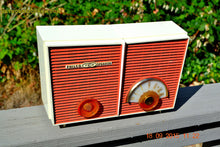 Load image into Gallery viewer, WACKY LOOKING Coral And White  Retro Jetsons Vintage 1957 Philco H836-124 AM Tube Radio Works! , Vintage Radio - Philco, Retro Radio Farm  - 7