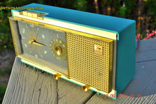 Load image into Gallery viewer, SOLD! - Aug 22, 2017 - TURQUOISE Mid Century Vintage Retro Westinghouse Model H718T5 AM Tube Radio Alarm Clock Works! - [product_type} - Westinghouse - Retro Radio Farm