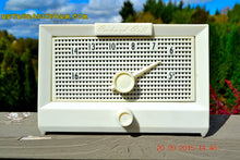 Load image into Gallery viewer, SOLD! - Dec 5, 2016 - BRITE WHITE Mid Century Retro Jetsons Vintage 1956 Packard Bell 5R1 AM Tube Radio Works! - [product_type} - Packard-Bell - Retro Radio Farm