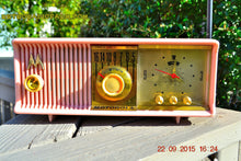 Load image into Gallery viewer, SOLD! - Oct 28, 2016 - PRINCESS PINK Retro Jetsons 1957 Motorola 57CC Tube AM Clock Radio Totally Restored! - [product_type} - Motorola - Retro Radio Farm