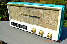 Load image into Gallery viewer, SOLD! - Dec 17, 2015 - BLUETOOTH MP3 READY - AQUAMARINE BLUE Retro Jetsons Vintage 1959 Arvin 2585 AM Tube Radio WORKS! - [product_type} - Arvin - Retro Radio Farm