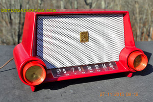 SOLD! - Mar 13, 2016 - CIMARRON RED Dashboard Mid Century Retro Jetsons 1953 Motorola 53H Tube AM Radio Works! , Vintage Radio - Motorola, Retro Radio Farm  - 8