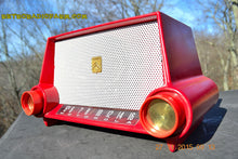 Load image into Gallery viewer, SOLD! - Mar 13, 2016 - CIMARRON RED Dashboard Mid Century Retro Jetsons 1953 Motorola 53H Tube AM Radio Works! , Vintage Radio - Motorola, Retro Radio Farm  - 3