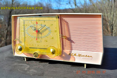 SOLD! - Dec 14, 2015 - BLUETOOTH MP3 READY - Pink and White Retro Jetsons Vintage 1957 RCA C-4FE AM Tube Clock Radio Totally Restored! , Vintage Radio - RCA Victor, Retro Radio Farm  - 5