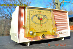 SOLD! - Dec 14, 2015 - BLUETOOTH MP3 READY - Pink and White Retro Jetsons Vintage 1957 RCA C-4FE AM Tube Clock Radio Totally Restored! , Vintage Radio - RCA Victor, Retro Radio Farm  - 4
