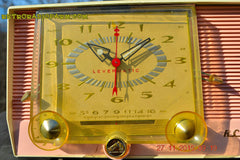 SOLD! - Dec 14, 2015 - BLUETOOTH MP3 READY - Pink and White Retro Jetsons Vintage 1957 RCA C-4FE AM Tube Clock Radio Totally Restored! , Vintage Radio - RCA Victor, Retro Radio Farm  - 6