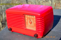 SOLD! - Jan 8, 2016 - LIPSTICK RED Vintage Deco Retro 1948 Philco Transitone 48-200 AM Bakelite Tube Radio Works! Wow! , Vintage Radio - Philco, Retro Radio Farm  - 8