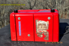 SOLD! - Jan 8, 2016 - LIPSTICK RED Vintage Deco Retro 1948 Philco Transitone 48-200 AM Bakelite Tube Radio Works! Wow! , Vintage Radio - Philco, Retro Radio Farm  - 10
