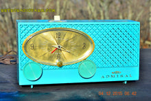 Load image into Gallery viewer, SOLD! - Jan 15, 2016 - POWDER BLUE Mid Century Fleur-De-50s Vintage Atomic Age 1959 Admiral Y3359 Tube AM Radio Clock Alarm Works! - [product_type} - Admiral - Retro Radio Farm