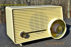 SOLD! - Jan 13, 2016 - IVORY Mocha Dragster Mid Century Retro Jetsons 1957-58 Motorola 5T22W Tube AM Radio Near Mint! , Vintage Radio - Motorola, Retro Radio Farm  - 5