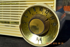 SOLD! - Jan 13, 2016 - IVORY Mocha Dragster Mid Century Retro Jetsons 1957-58 Motorola 5T22W Tube AM Radio Near Mint! , Vintage Radio - Motorola, Retro Radio Farm  - 10