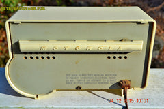 SOLD! - Jan 13, 2016 - IVORY Mocha Dragster Mid Century Retro Jetsons 1957-58 Motorola 5T22W Tube AM Radio Near Mint! , Vintage Radio - Motorola, Retro Radio Farm  - 12