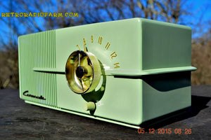 SOLD! - Dec 24, 2015 - CORONADO Moderne 1950 Model 43-8225 AM Tube Radio Pistachio Mid Century Retro Near Mint Works Great! - [product_type} - Coronado - Retro Radio Farm