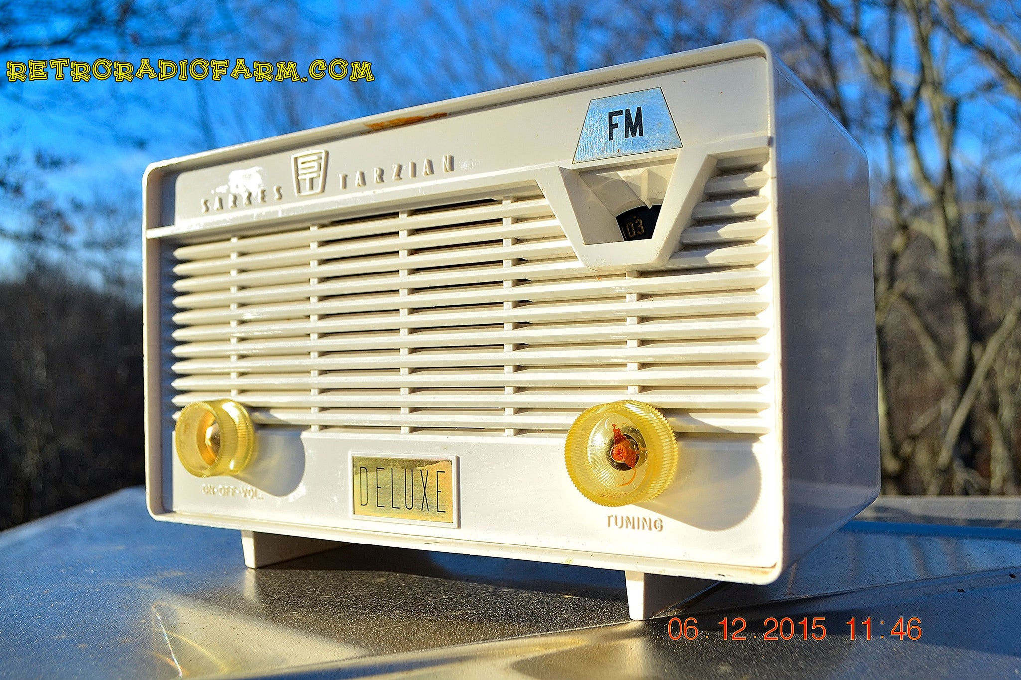 SOLD! - Jan 8, 2016 - SARKES TARZAIN Model 723-514 Rare FM Only Tube Radio Snow White Restored and Working Great! - [product_type} - Sarkes Tarzain - Retro Radio Farm