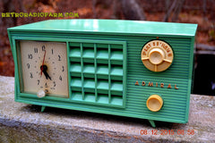 SOLD! - Dec 13, 2015 - BLUETOOTH MP3 Ready - Admiral Model 251 955 AM Tube Radio Pistachio Green Retro Jetsons Mid Century Vintage Totally Restored! , Vintage Radio - Admiral, Retro Radio Farm  - 4