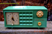 Load image into Gallery viewer, SOLD! - Dec 13, 2015 - BLUETOOTH MP3 Ready - Admiral Model 251 955 AM Tube Radio Pistachio Green Retro Jetsons Mid Century Vintage Totally Restored! - [product_type} - Admiral - Retro Radio Farm