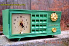 SOLD! - Dec 13, 2015 - BLUETOOTH MP3 Ready - Admiral Model 251 955 AM Tube Radio Pistachio Green Retro Jetsons Mid Century Vintage Totally Restored! , Vintage Radio - Admiral, Retro Radio Farm  - 2