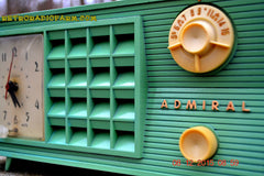 SOLD! - Dec 13, 2015 - BLUETOOTH MP3 Ready - Admiral Model 251 955 AM Tube Radio Pistachio Green Retro Jetsons Mid Century Vintage Totally Restored! , Vintage Radio - Admiral, Retro Radio Farm  - 9