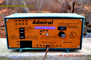 SOLD! - Dec 13, 2015 - BLUETOOTH MP3 Ready - Admiral Model 251 955 AM Tube Radio Pistachio Green Retro Jetsons Mid Century Vintage Totally Restored! - [product_type} - Admiral - Retro Radio Farm